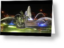 J.c. Nichols Fountain-4981 Greeting Card