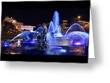 J.c.nichols Fountain-9802b Greeting Card