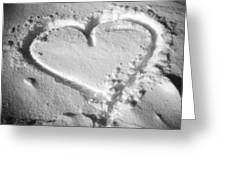Winter Heart Greeting Card