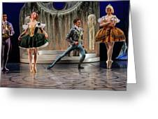 Jealous Stepsister Ballerinas En Pointe With Guests At The Ball  Greeting Card