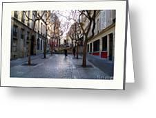 Jean Beauvais Paris Couple Walking Greeting Card