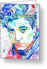 Jean Gabin - Colored Pens Portrait Greeting Card