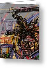 Jean Michel Basquiat Greeting Card by Russell Pierce