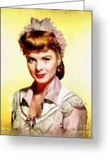 Jean Peters, Vintage Actress Greeting Card