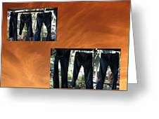 Jeans R Flying Greeting Card