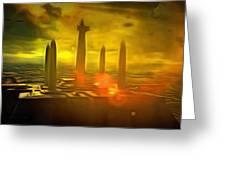 Jedi Temple - Pa Greeting Card