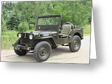 Jeep At Hydes Creek Greeting Card