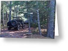 Jeep At Tin Camp Greeting Card