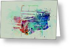 Jeep Willis Greeting Card by Naxart Studio