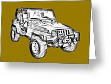 Jeep Wrangler Rubicon Illustration Greeting Card