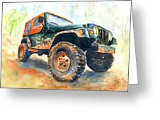Jeep Wrangler Watercolor Greeting Card