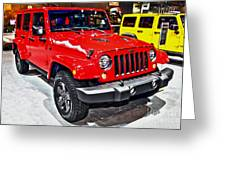Jeep Wrangler X Greeting Card