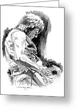Jeff Beck In Concert Greeting Card by David Lloyd Glover