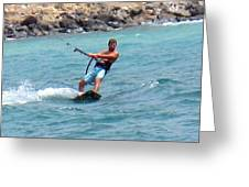Jeff Kite Surfer Greeting Card