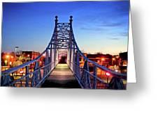 Jefferson Avenue Footbridge Greeting Card
