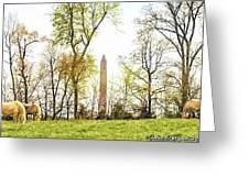 Jefferson Davis Monument Horses Greeting Card