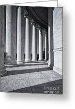 Jefferson Memorial Columns And Shadows Greeting Card
