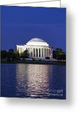 Jefferson Memorial Dusk Greeting Card