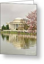 Jefferson Memorial Reflection I Greeting Card