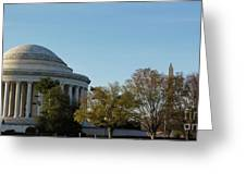 Jefferson Memorial Greeting Card by Megan Cohen