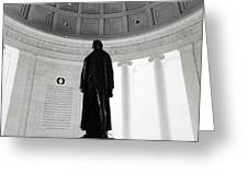 Jefferson Memorial Statue Greeting Card
