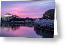 Jefferson Memorial Sunrise Greeting Card
