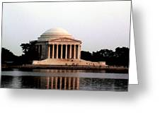 Jefferson Monument After Sunset Greeting Card