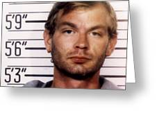 Jeffrey Dahmer Mug Shot 1991 Square  Greeting Card