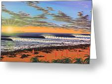 Jeffreys Bay  South Africa Greeting Card