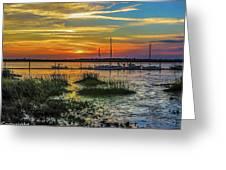Jekyl Island Sunset Greeting Card