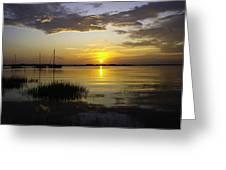 Jekyll Island Sunset Greeting Card