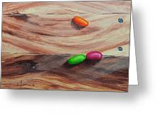 Jelly Beans On Wood Greeting Card