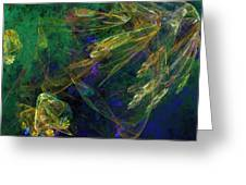 Jelly Fish  Diving The Reef Series 1 Greeting Card