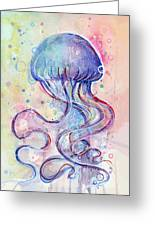 Jelly Fish Watercolor Greeting Card