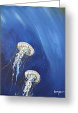 Jellyfish In Unison Greeting Card