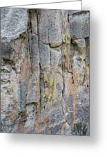 Jenn Krogue Climbs A Route Called Thin Slice Which Is Rated 5.10 Greeting Card