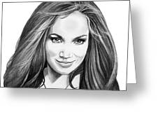 Jennifer Lopez Greeting Card