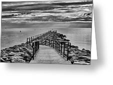 Jennings Beach Dock Greeting Card