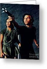 Jenny Agutter And Michael York, Logan's Run Greeting Card