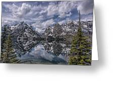 Jenny Lake And The Cathedral Greeting Card