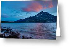 Jenny Lake At Sunset Greeting Card by Adam Mateo Fierro