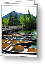Jenny Lake Boats Greeting Card