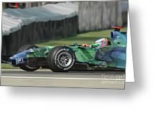 Jenson Button, Honda Ra107  Greeting Card