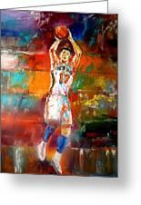 Jeremy Lin New York Knicks Greeting Card by Leland Castro