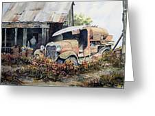 Jeromes Tank Truck Greeting Card