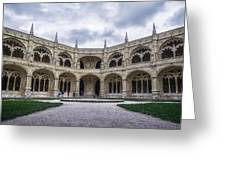 Jeronimos Monastery Cloister Greeting Card