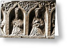 Jerpoint Abbey Irish Tomb Weepers Saints County Kilkenny Ireland Sepia Greeting Card