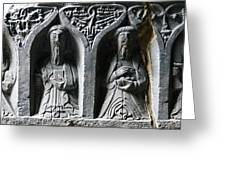 Jerpoint Abbey Irish Tomb Weepers Saints County Kilkenny Ireland Greeting Card