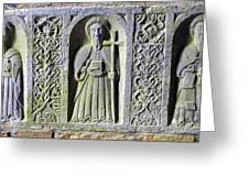 Jerpoint Abbey Weepers Saints James Philip And Matthias County Kilkenny Ireland Greeting Card
