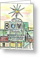 Jerry Dutler's Bowl Greeting Card